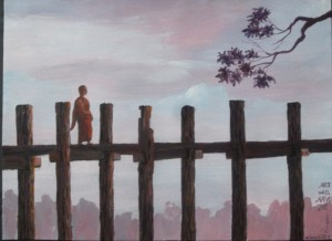 "Win Htet, ""Monk on the Bridge"", 2016."