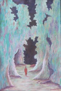 """Win Htet, """"Monk Enter in the Cave"""", 2016."""